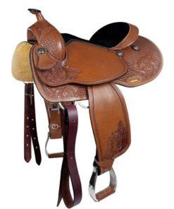 HKM Saddle Dallas Light Brown