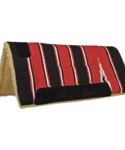 HKM Saddle Pad with Teddy Filling Red