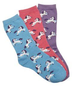 AWST International Ladies Dancing Ponies Crew Socks - 3 Pack