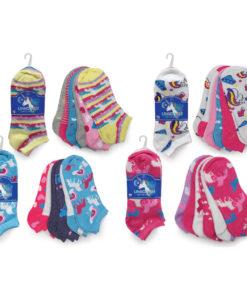 AWST International Ladies Unicorn Socks - 6 Pack
