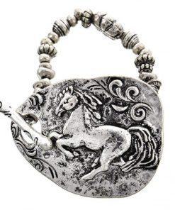 AWST International Large Galloping Horse Beaded Bracelet