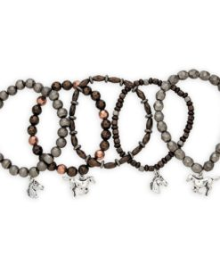 AWST International Mixed Metal-Look Stretch Bracelets - Set of 5