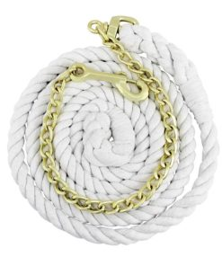 """Equi-Sky 5/8"""" Cotton Lead With Chain"""