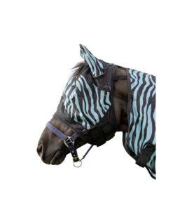 HKM Fly Mask Aqua Zebra