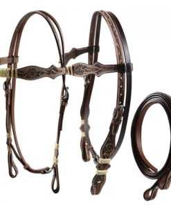 Silver Horse Rose Headstall Set